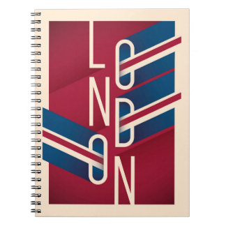 London, England | Retro Illustrated Typography Notebook