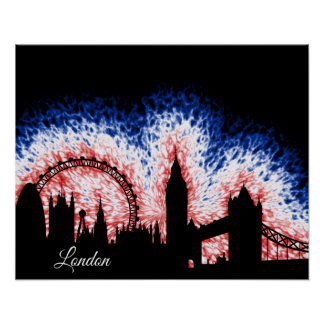 London England Silhouette Poster