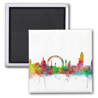 London England Skyline Square Magnet