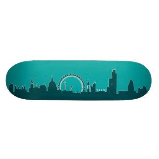 London England Skyline Skate Deck