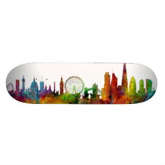 London England Skyline Skateboard