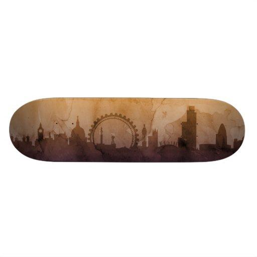 London England Skyline Custom Skateboard