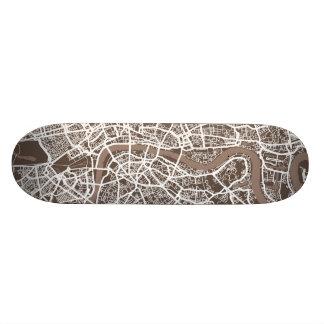 London England Street Map Art Skateboard