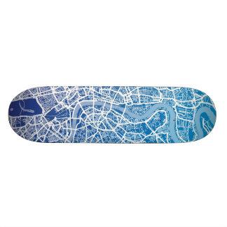 London England Street Map Art Custom Skate Board