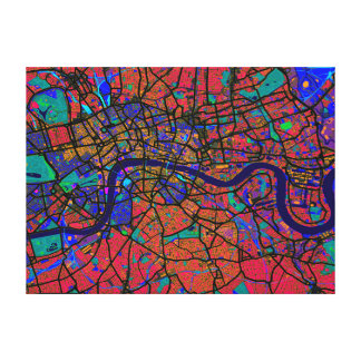 London England Street Map Canvas Print