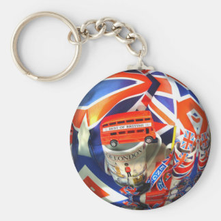 London England Tourist Attractions Basic Round Button Key Ring