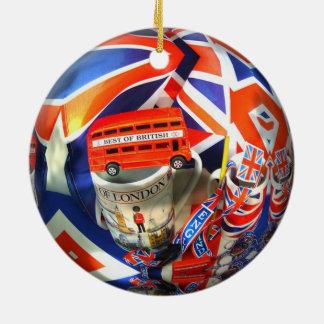 London England Tourist Attractions Round Ceramic Decoration