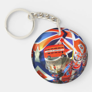 London England Tourist Attractions Single-Sided Round Acrylic Key Ring