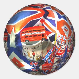 London England Tourist Attractions Round Sticker