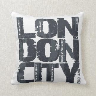 London, England Typography Cushion