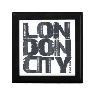 London, England Typography Gift Box