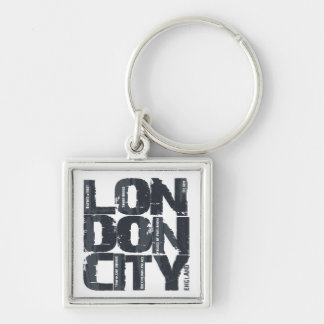 London, England Typography Key Ring