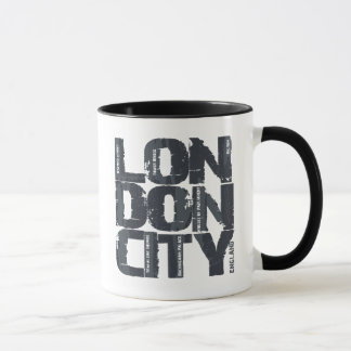 London, England Typography Mug