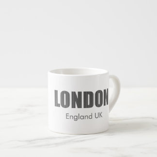 London, England UK (typography) Espresso Cup