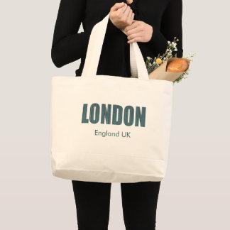 London, England UK (typography) Large Tote Bag