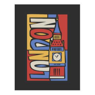 London, England | Vibrant Handrawn Design Postcard