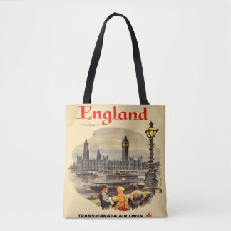 London England Vintage Style Tote Bag Big Ben