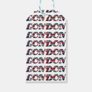 London English Flag Colors England Typography Gift Tags