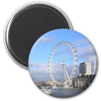 London Eye 6 Cm Round Magnet