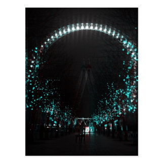 London eye at night postcard