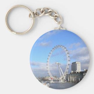 London Eye Basic Round Button Key Ring