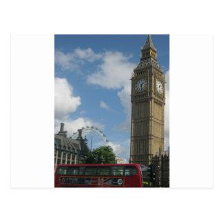 London Eye & Big Ben Postcard