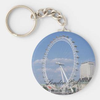 London Eye  Button Keychain