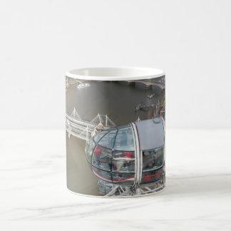 London Eye Cabin & City View White Coffee Mug