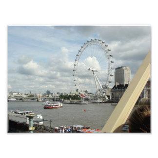 London Eye Ferris Wheel Art Photo