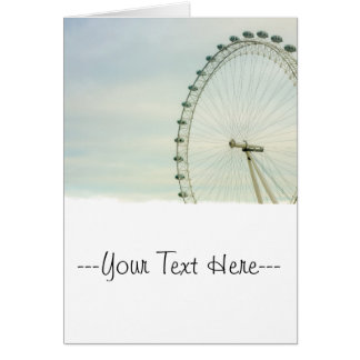 London Eye Green Blue Sky Card