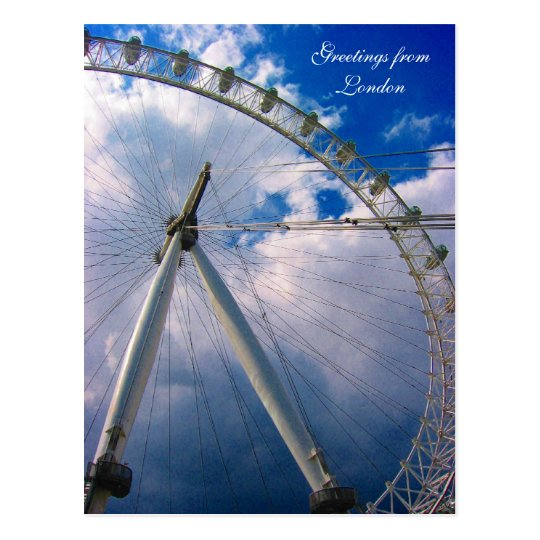 london eye greetings postcard