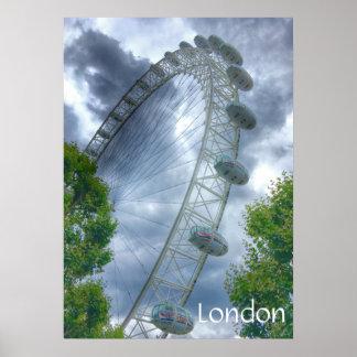 London Eye Landmark Poster