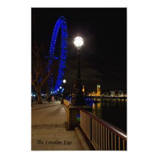London Eye night view Art Photo