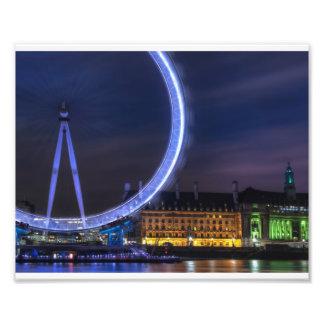 London Eye Print Art Photo