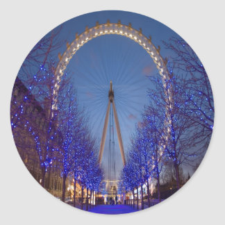 London Eye Twilight Classic Round Sticker