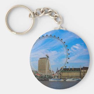 London Eye United Kingdom Basic Round Button Key Ring