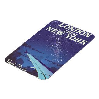 London From New York Vintage flight poster Magnet