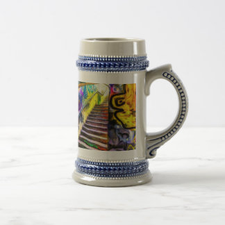 London Graffiti Van Gogh Beer Stein
