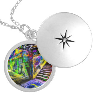 London Graffiti Van Gogh Locket Necklace