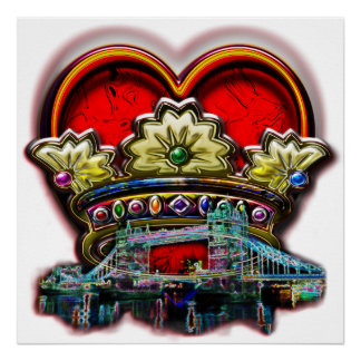 London Heart Crown Group Print