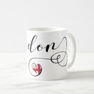 London Heart Mug, England Coffee Mug