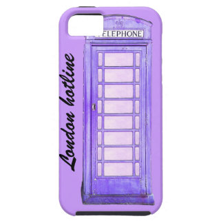London hotline purple British phone booth iPhone 5 Covers