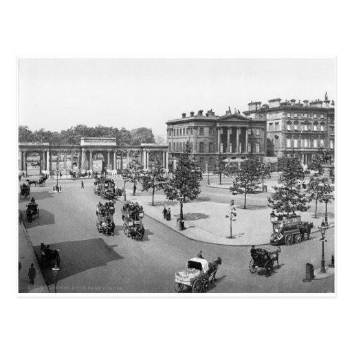 London Hyde Park postcard, early 1900's UK Postcard