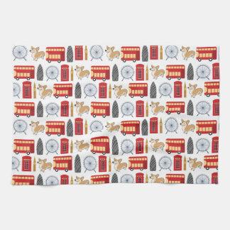 London Icon Collage Kitchen Towel