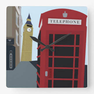 London Icons Illustrated Wall Clock