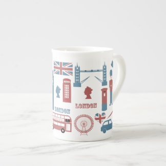 London Icons Retro Love Souvenir bone china mug