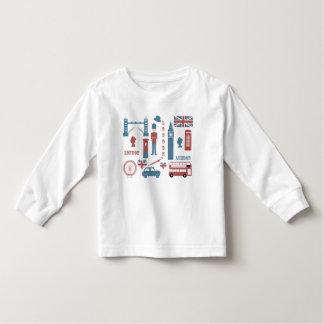 London Icons Retro Love toddler's white t-shirt