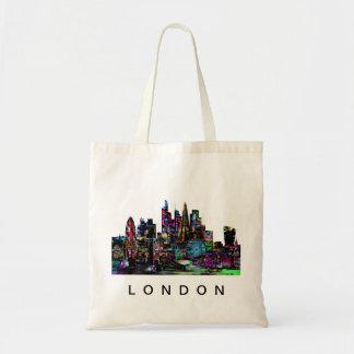 London in graffiti tote bag