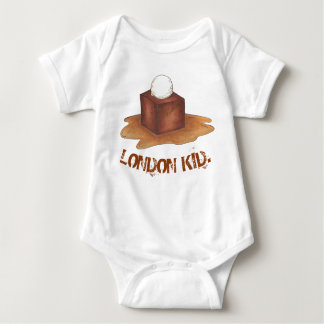 London Kid Sticky Toffee Pudding British Food UK Baby Bodysuit