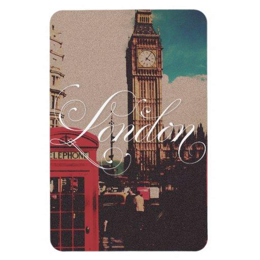 London Landmark Vintage Photo Magnets